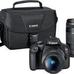Canon EOS Rebel T7 DSLR Video Two Lens Kit